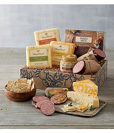 Image of Harry and David Deluxe Meat & Cheese Gift Set