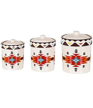 Image of HiEnd Accents Del Sol 3-Piece Canister Set