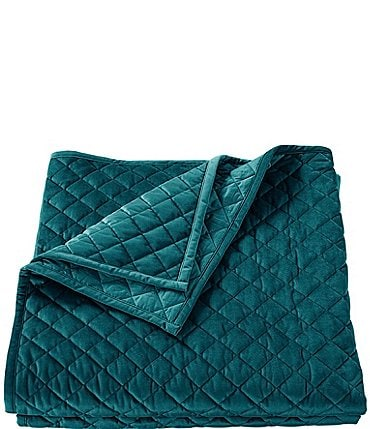 Image of HiEnd Accents Diamond Pattern Velvet Quilt