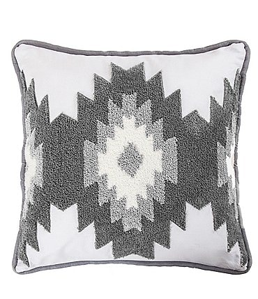Image of HiEnd Accents Free Spirit Crewel Embroidered Square Pillow