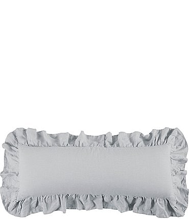 Image of HiEnd Accents Linen Ruffled Body Pillow