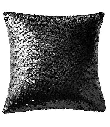 Image of Highline Bedding Co. Gabriella Sequin & Faux-Suede Square Pillow