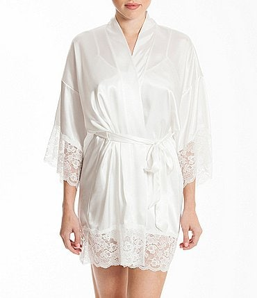Image of In Bloom by Jonquil Satin & Lace Bridal Robe