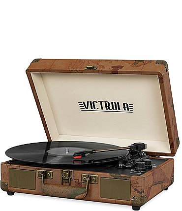 Image of Innovative Technology Victrola Bluetooth Suitcase Record Player with 3-speed Turntable