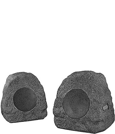 Image of Innovative Technology Wireless Outdoor Rock Speakers, Set of 2