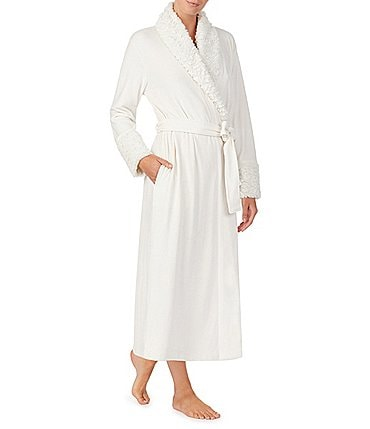 Image of Irelax Double Face Velour Long Wrap Robe