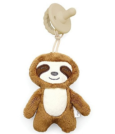 Image of Itzy Ritzy Sloth Sweetie Pal - Pacifier & Stuffed Animal