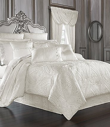Image of J. Queen New York Bianco Damask Comforter Set