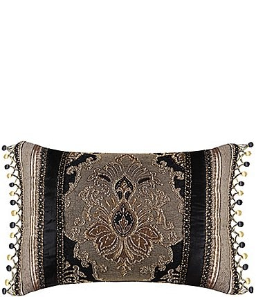 Image of J. Queen New York Bradshaw Beaded Velvet Boudoir Pillow
