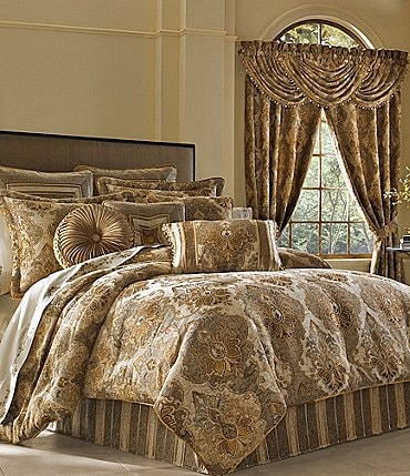 Image of J. Queen New York Bradshaw Damask Chenille Comforter Set