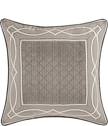 Image of J. Queen New York Deco Stria Satin Square Pillow