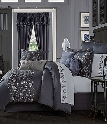 Image of J. Queen New York Delilah Embroidered Floral Comforter Set