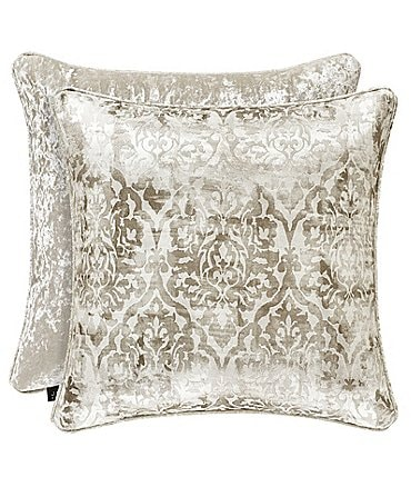 Image of J. Queen New York Dream Damask Velvet Square Pillow