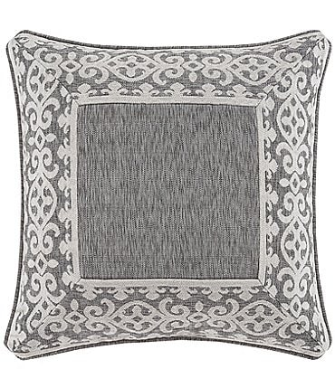 Image of J. Queen New York Giselle Scroll Border Chenille Square Pillow