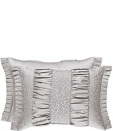 Image of J. Queen New York La Scala Silver Boudoir Pillow