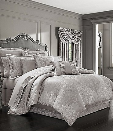 Image of J. Queen New York La Scala Silver Comforter Set