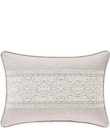 Image of J. Queen New York Laura Lynn Embroidered Boudoir Pillow