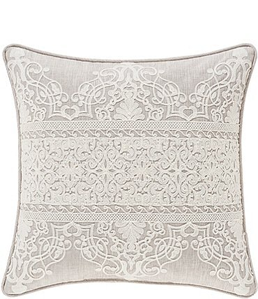 Image of J. Queen New York Laura Lynn Embroidered Damask Square Pillow