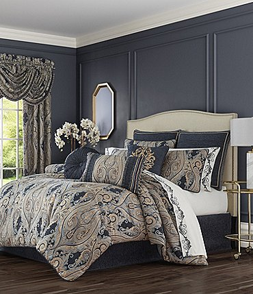 Image of J. Queen New York Luciana Indigo Comforter Set
