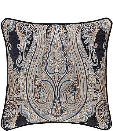 Image of J. Queen New York Luciana Paisley Indigo Square Pillow