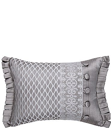 Image of J. Queen New York Luxembourg Silver Boudoir Pillow