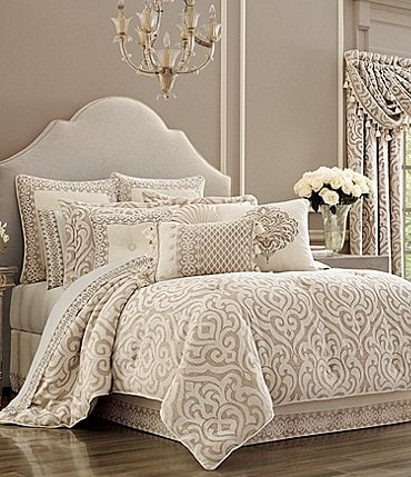 Image of J. Queen New York Milano Sand Chenille Damask Comforter Set