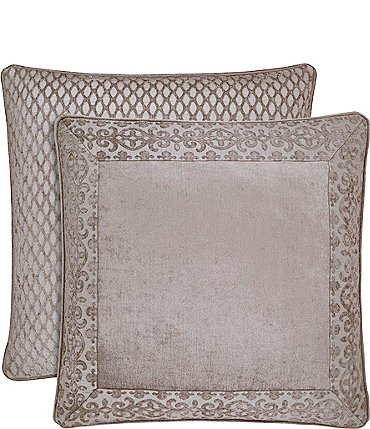 Image of J. Queen New York Sicily Scroll & Lattice Chenille Euro Sham