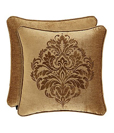 Image of J. Queen New York Sicily Gold Embroidered Square Pillow