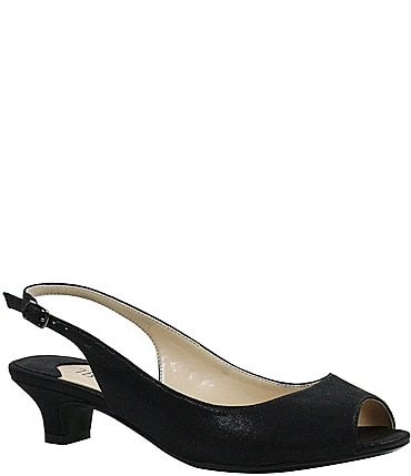 Image of J. Renee Jenvey Satin Slingback Pumps