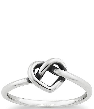 Image of James Avery Delicate Heart Knot Ring