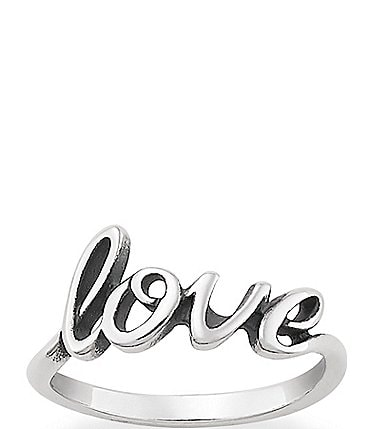 Image of James Avery Love Script Ring