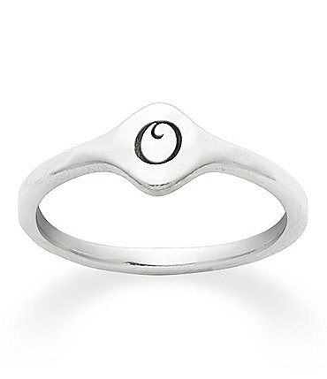 Image of James Avery Petite Signet Initial Ring