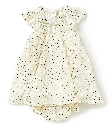 Image of Jessica Simpson Baby Girls Newborn-9 Months Dotted A-Line Dress