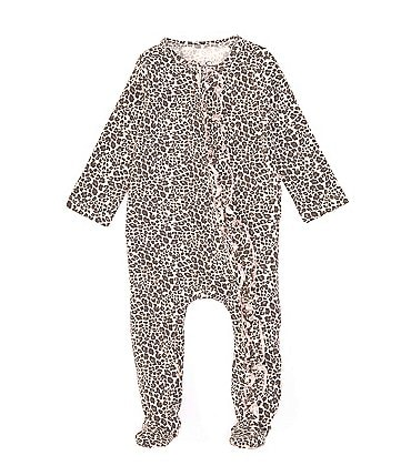 Image of Jessica Simpson Baby Girls Newborn-9 Months Leopard-Print Footed Coverall