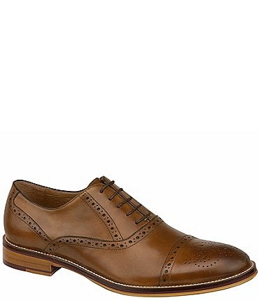 Image of Johnston & Murphy Men's Conard Cap-Toe Wingtip Detail Oxfords