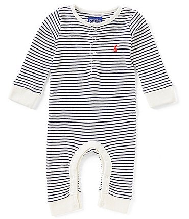 Image of Joules Baby Boys Newborn-24 Months Webley Striped Coverall
