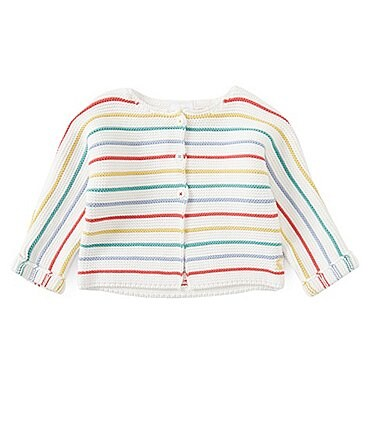 Image of Joules Baby Preemie-12 Months Striped Chunky Knit Cardigan