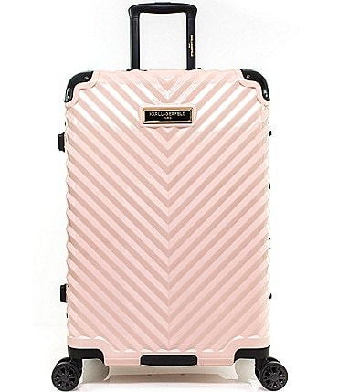 "Image of KARL LAGERFELD PARIS Chevron 24"" Hardside Spinner"