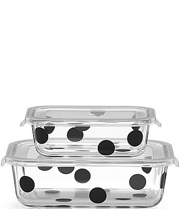 Image of kate spade new york All in Good Taste Deco Dot Rectangular Food Storage Container Set