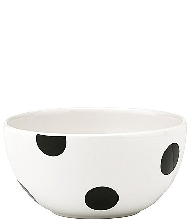 Image of kate spade new york All in Good Taste Deco Dot Stoneware Fruit Bowl