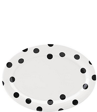 Image of kate spade new york All in Good Taste Deco Dot Stoneware Oval Platter