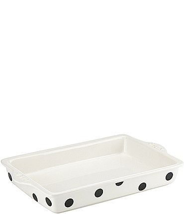 Image of kate spade new york All in Good Taste Dive In Dotted Rectangular Stoneware Baker