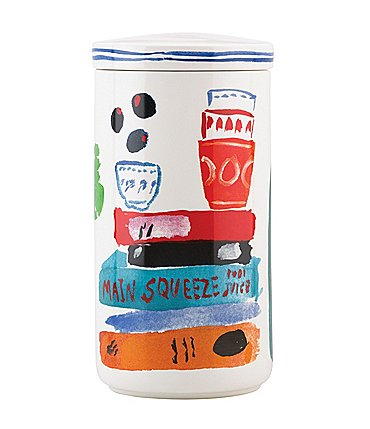 "Image of kate spade new york All in Good Taste Pretty Pantry 12"" Stoneware Canister"