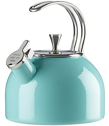 Image of kate spade new york All in Good Taste Whistle While You Work Enameled Steel Tea Kettle