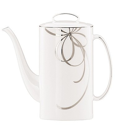 Image of kate spade new york Belle Boulevard Bow Platinum Coffeepot