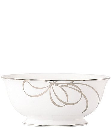 Image of kate spade new york Belle Boulevard Bow Platinum Serving Bowl