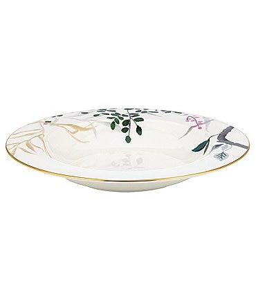 Image of kate spade new york Birch Way Watercolor Floral Bone China Rimmed Soup Bowl