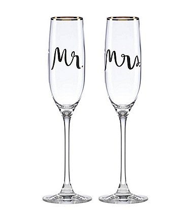 Image of kate spade new york Bridal Party Flutes, Pair