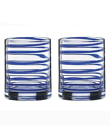 Image of kate spade new york Charlotte Street Spiral Double Old Fashioned Glass Pair
