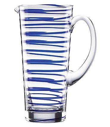 Image of kate spade new york Charlotte Street Spiral Glass Pitcher